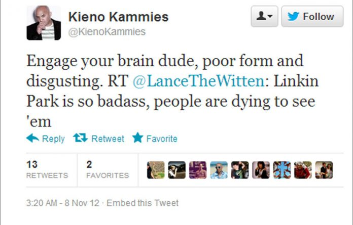 Lance Witten has been suspended after a tweet he sent on Wednesday night about Linkin Park.