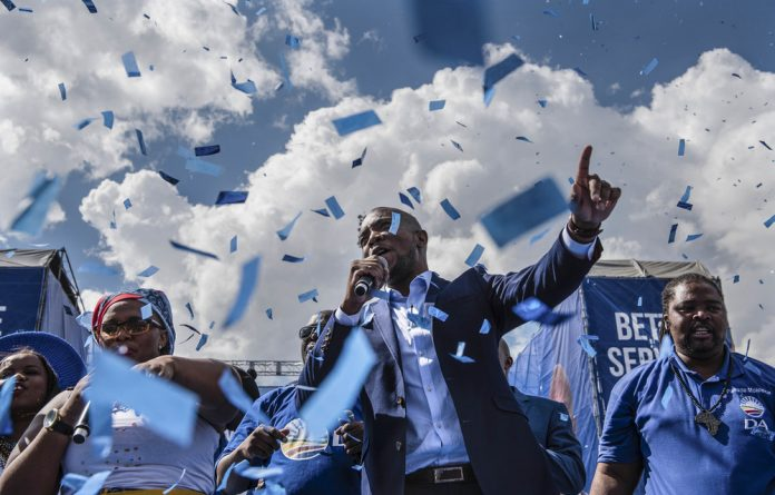 Party leader Mmusi Maimane described his party's manifesto as one of