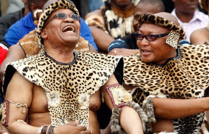 President Jacob Zuma at his wedding to Tobeka Madiba