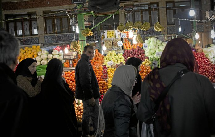 Iranians are having to limit their consumption of foodstuffs such as fruit