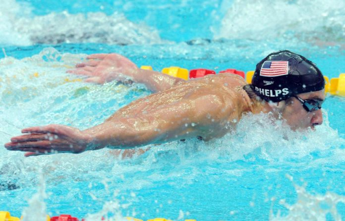Swimmer Michael Phelps during the Beijing 2008 Olympic Games.