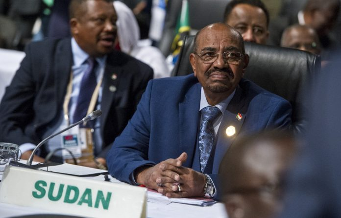 Sudanese President Omar al-Bashir during his visit to South Africa.