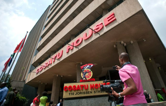Cosatu's R10-million annual rental at its offices in Braamfontein is one of the reasons the federation is in dire financial straits.
