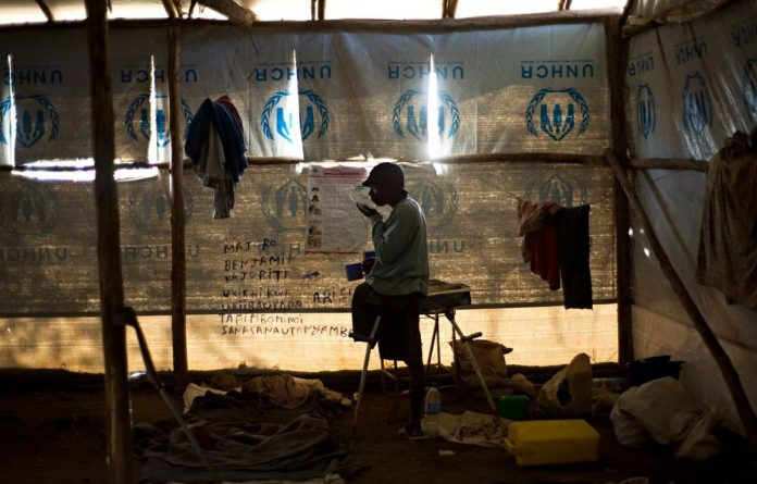A Rwandan refugee in the Nakivale refugee camp in Uganda in 2009.