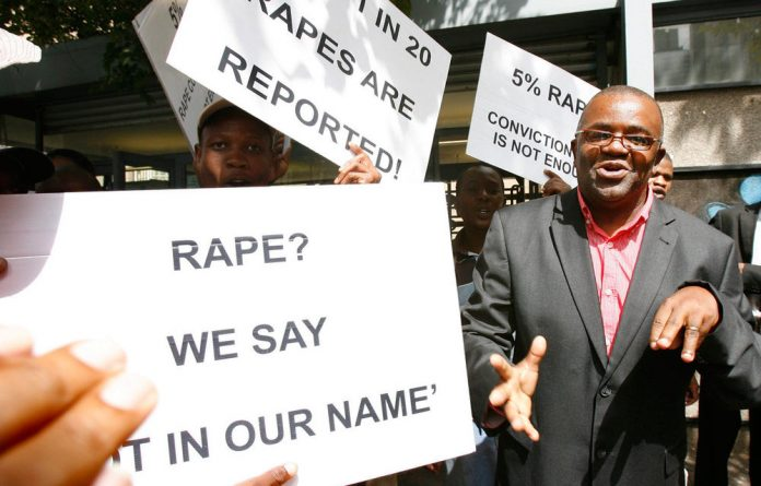 A file photograph of Sonke Gender Justice network activists. The majority of women in SA are not benefitting from gains made in terms of gender equality