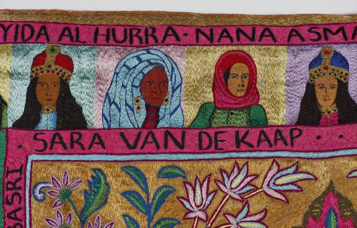 Detail of 'Al Hurra' by Thania Petersen. Photo: Hayden Phipps courtesy of Whatiftheworld.