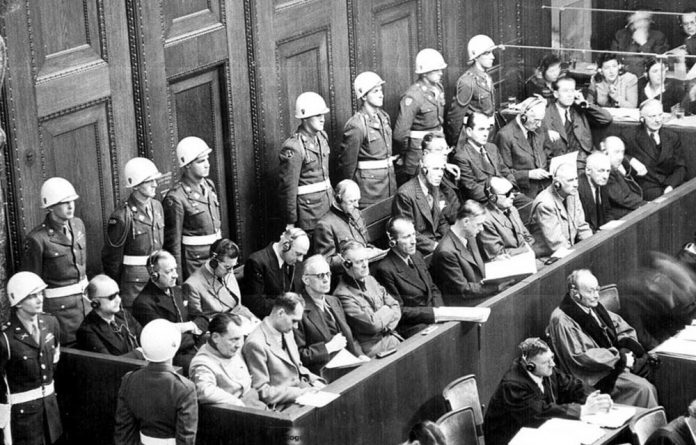 A case to answer: The defendants at Nuremberg were charged with crimes against humanity.