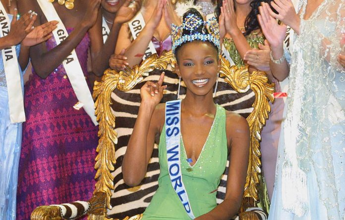 Nigeria's Agbani Darego after being crowned Miss World in 2002. Being slender is not favoured in African societies.