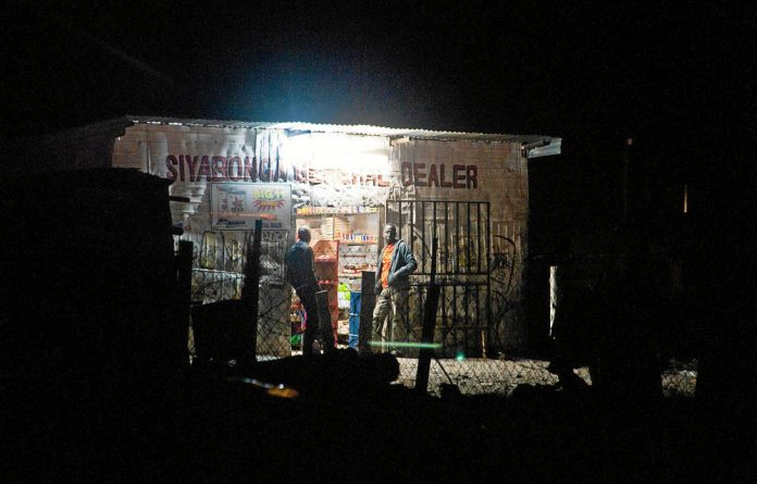A spaza shop in Marikana. Lonmin miners went on strike demanding better wages.