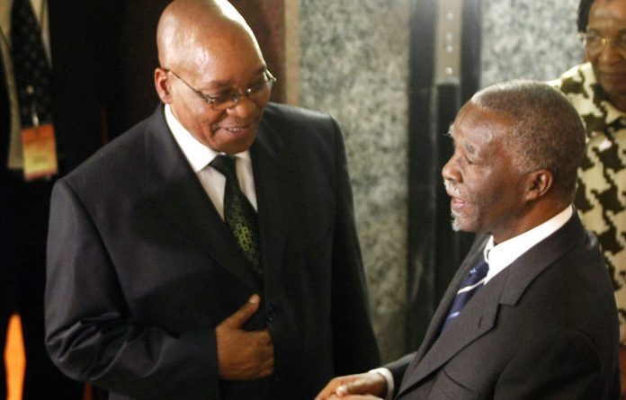 President Jacob Zuma and former president Thabo Mbeki in 2009.