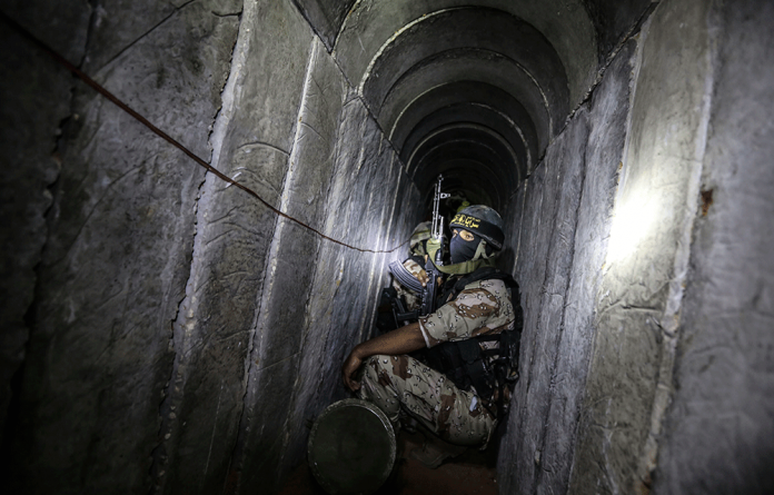 A Palestinian military leader has said the tunnels linking Gaza to Israel can withstand concussion bombs.