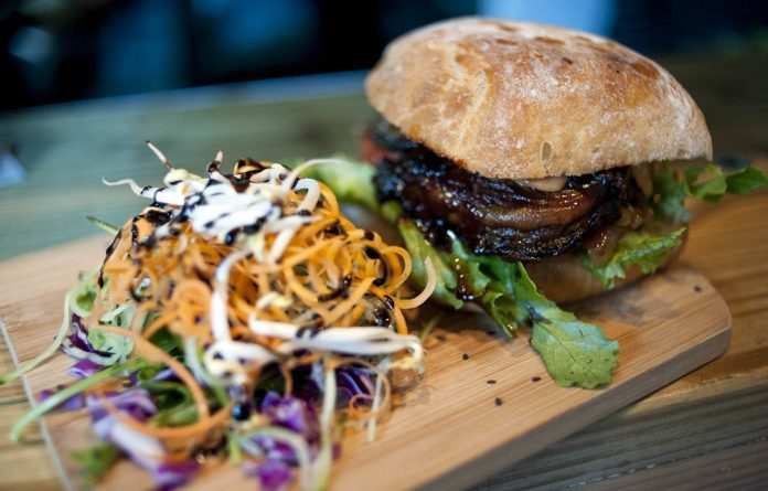 Vegilicious: Vegan treats such as the brinjal burger are on offer at Plant