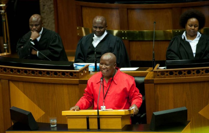 Julius Malema was ordered to leave the House after he blamed the ANC government for the 2012 Marikana shooting.
