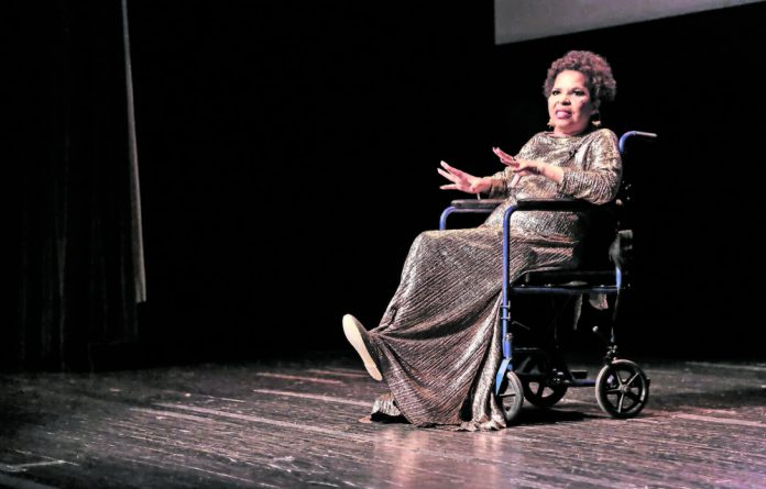 Author Ntozake Shange speaks at the 40th anniversary of For Colored Girls.