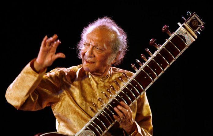 Indian sitarist and composer Ravi Shankar.
