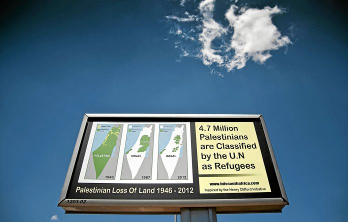 One of the boards on display in Nelson Mandela drive in Pretoria. Photo: Madelene Cronjé