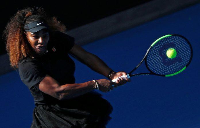 Serena Williams in training.