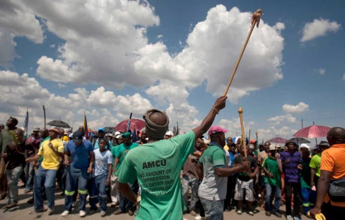Workers on the platinum mines have once again downed tools in a bid to secure a