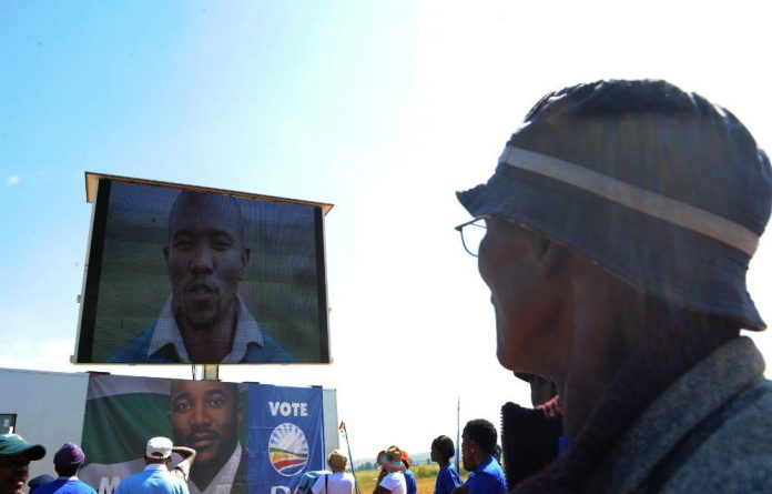 DA members at the launch of the party's election TV campaign in Bekkersdal