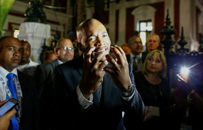 Maimane claims Mkhwebane ignored the DA's submission that the project originated in the office of Free State Premier Ace Magashule