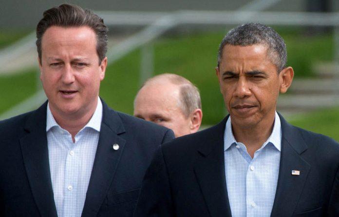 British Prime Minister David Cameron and US President Barack Obama.