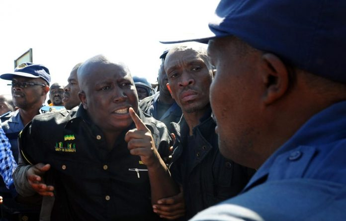 Police barred Julius Malema