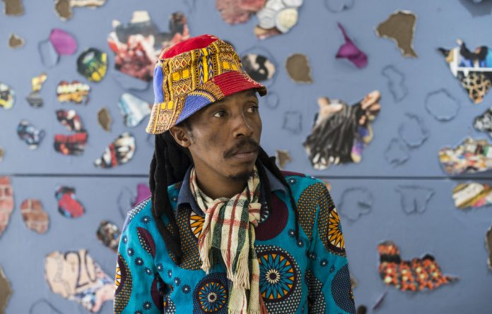 Patterns: The layered canvases created by Happy Dhlame are cut away to expose the underbelly of Johannesburg. Photo