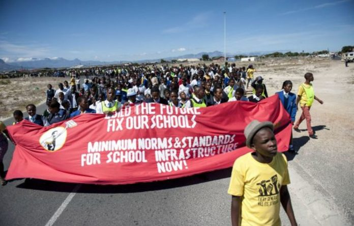 Members of Equal Education and schoolchildren march in Khayelitsha on Human Rights Day. Two volunteers have complained that they felt used by the organisation.
