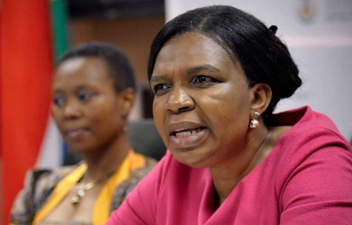Former communications minister Dina Pule.