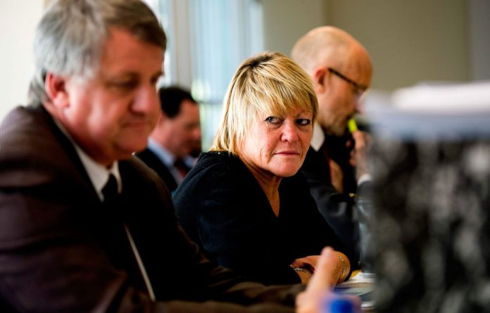 Glynnis Breytenbach at her disciplinary hearing.