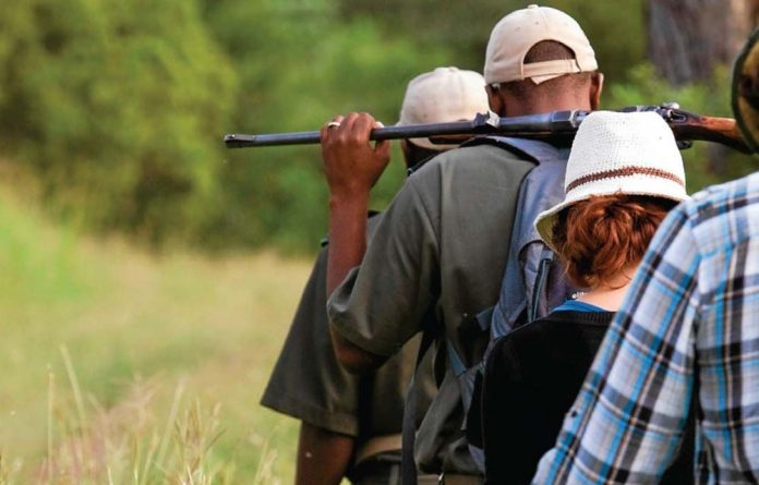Visitors to the Kruger National Park enjoy a hike in the veld. Plans are underway to develop more tourist facilities in Limpopo