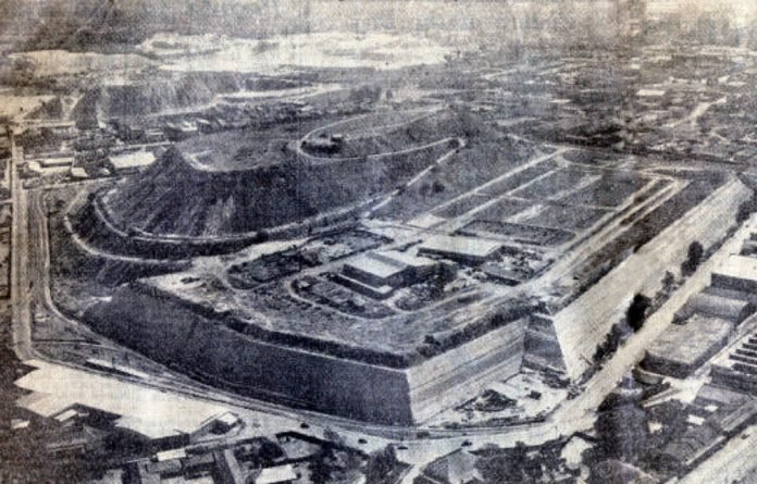 An aerial view of the old Top Star Drive-in in Johannesburg.