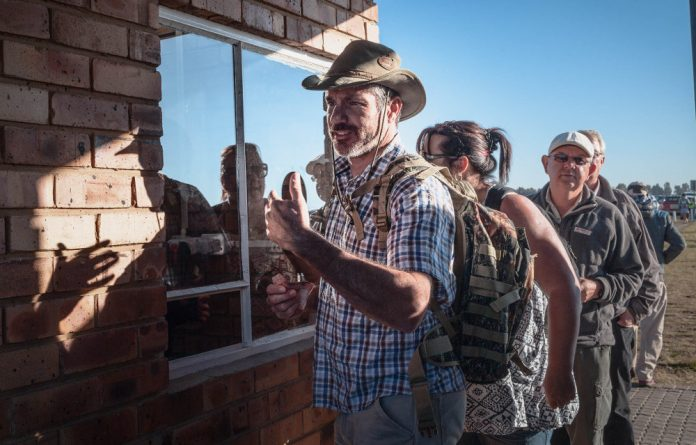 The proliferation of white farmers prompted various Great Trek jokes at this year's Nampo Harvest day.