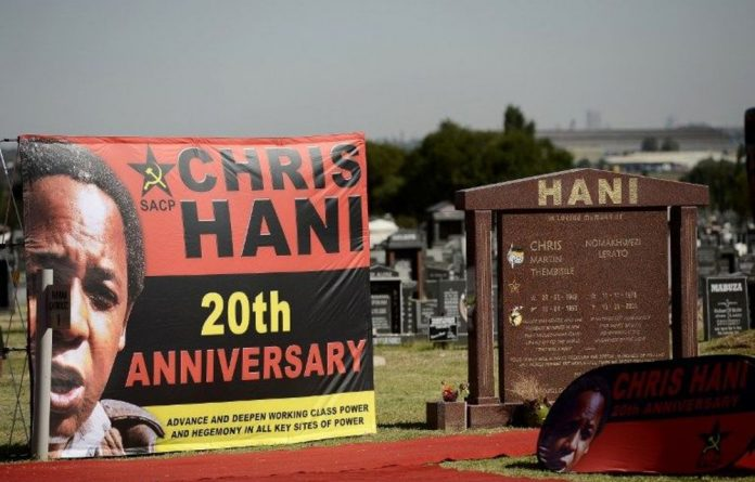 A dedication to Chris Hani on the 20th anniversary of his death.