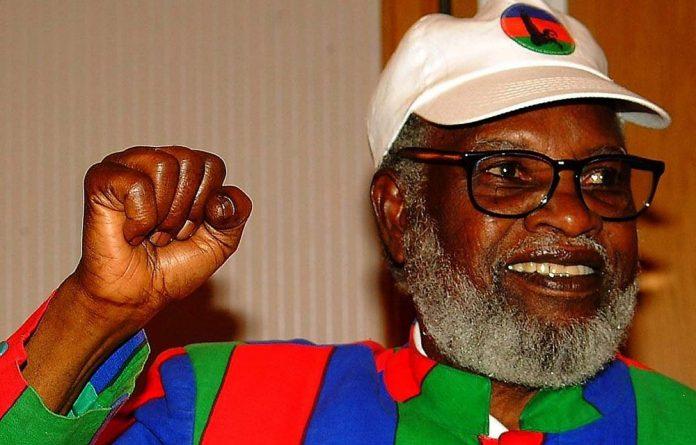 Former Namibian president Sam Nujoma.