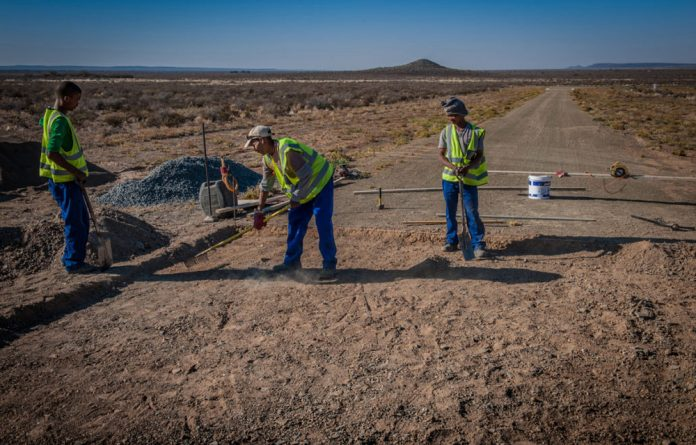 The upgrading of the 80km road between Carnarvon and the SKA site