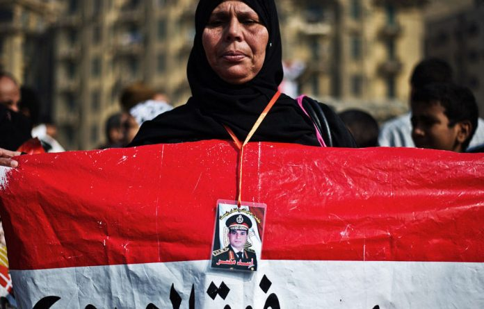 A supporter of Egypt's army chief Abdel Fattah al-Sisi