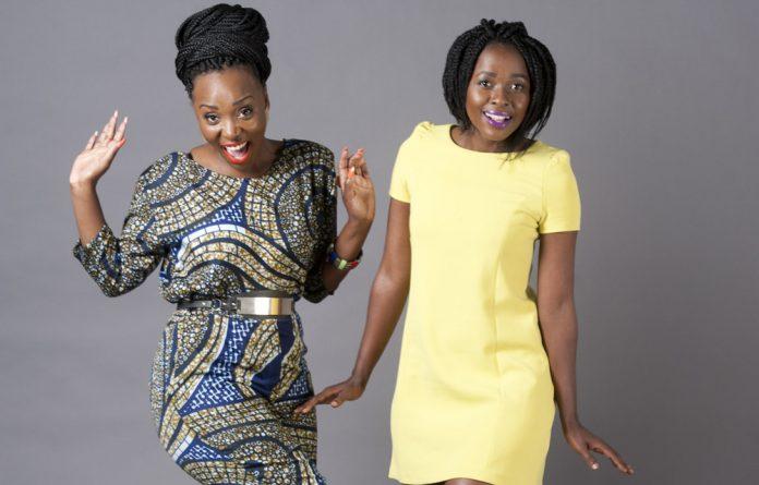 Jazz musicians Wanda Baloyi and Asanda Bam.