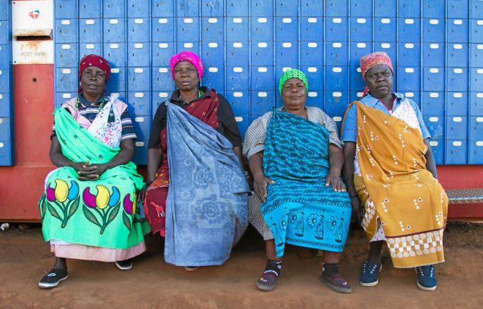 Women in a post office in Thohoyandou