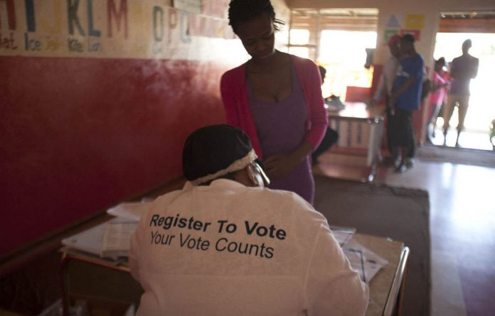 About half of South Africa's eligible voters under the age of 30 had registered to vote by the end of last weekend's voter registration drive.