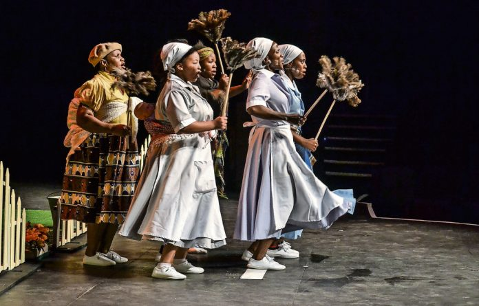 The cast of Napo Masheane's latest play 'A New Song'.
