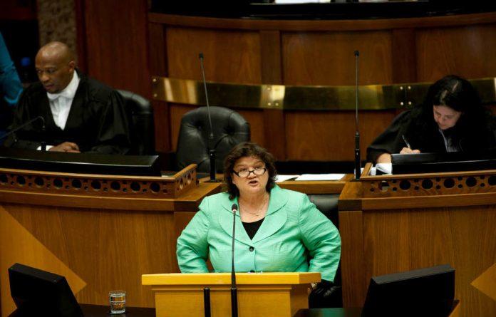 Public Enterprise Minister Lynne Brown.
