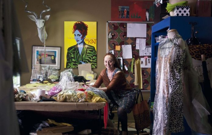 Garbage lady: Marianne Fassler's rubbish-clad gowns are brought to life by Robyn Orlin and the Moving into Dance Mophatong dancers.