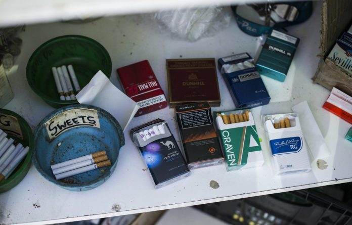Cheap: An Ipsos survey found that 42% of cigarettes in the informal market are sold below the collectible tax price.