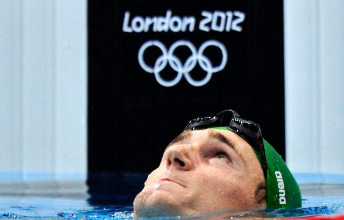 South African swimmer Cameron van der Burgh finished first in the men's 100m breaststroke final on Sunday night