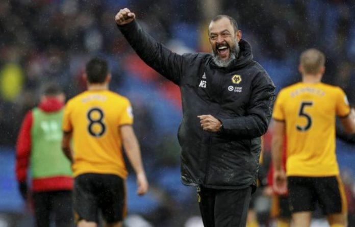 Wolverhampton Wanderers' Nuno Espirito Santo had reason to celebrate at the end of the match against Crystal Palace. John Sibley/Reuters