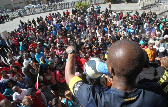 Student unions have protested the closure of Walter Sisulu University in the Eastern Cape.