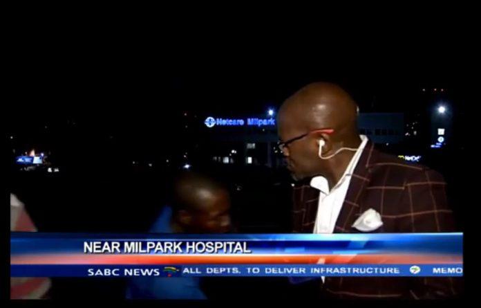 SABC contributing editor Vuyo Mvoko is mugged on camera
