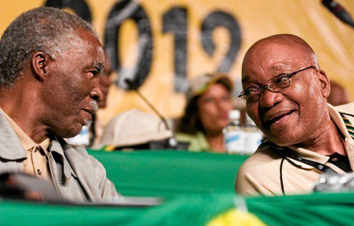 Thabo Mbeki and Jacob Zuma.