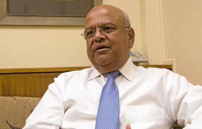 Finance Minister Pravin Gordhan.